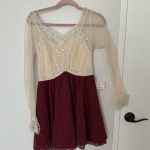 Lace sheer dress free people